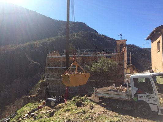 Carros Construction - démoliton et évacuation de la chapelle de Lantosque