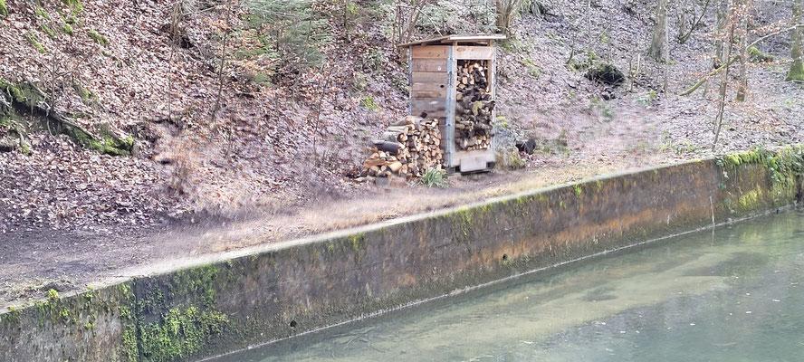 Fertig aufgeräumt beim Springbrunnen