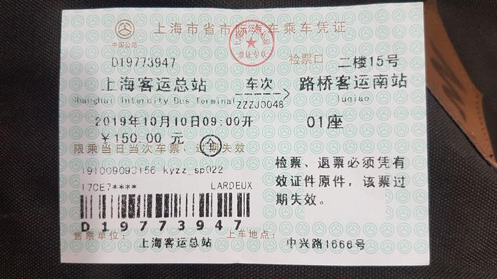 Un billet de bus