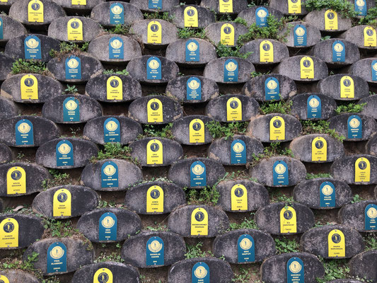 """Kleiner Ausschnitt der """"Wall of Honour"""""""