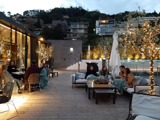Terrazza 241 rooftop restaurant at Hilton Como