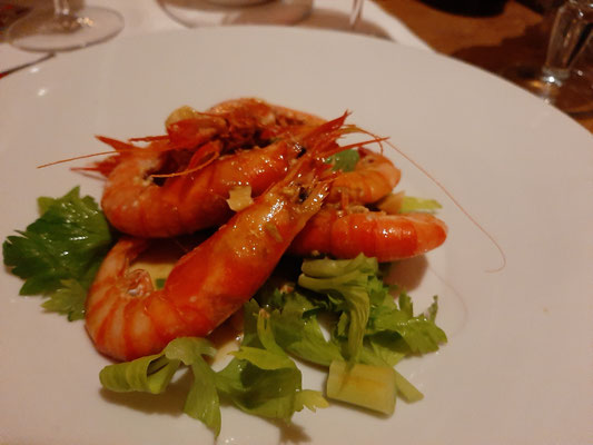 Shrimps at Risto Caffe Cavour