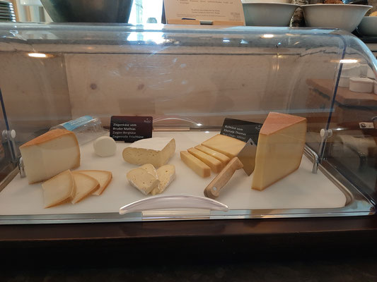 local goat cheese at Neuhof Schokohaus