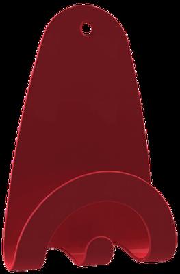 patère murale rouge pour fixation sur porte