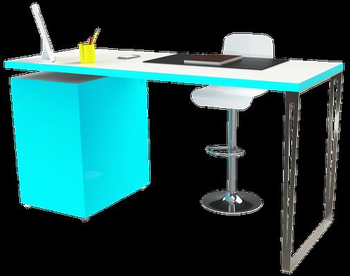 pied de table inox pour bureau