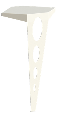 Table console couleur blanche.