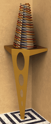 Table console Design pour habillez les coins d'une boutique.