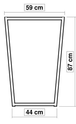 dimensions pied de table haute TrapYa H 87 cm