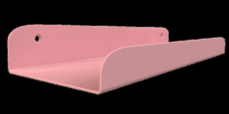 étagère rose à fixer sur un mur