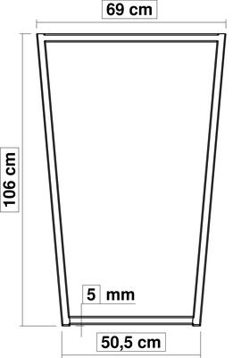 dimensions pied de table haute TrapYa H 106 cm