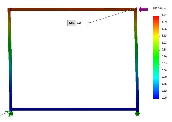 Calcul du pied de table métal DimYa sous effort de côté
