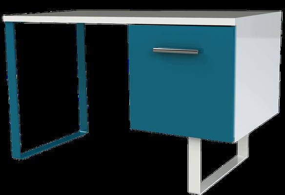 Bureau Design avec pieds bleus
