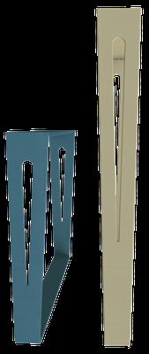 pied de meuble design couleur bleu