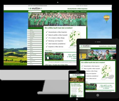 Emotion-Technologies.de - Umsetzung eines individuellen Jimdo Webdesign nach Kundenwunsch, Ergänzung um besondere Features