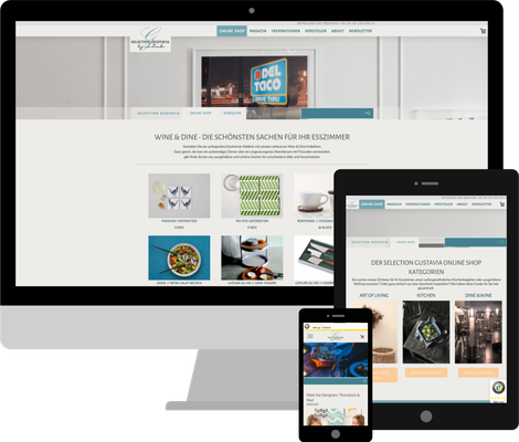 selection-gustavia.de - diverse Anpassungen, Feature-Erweiterungen für das Jimdo Shop System