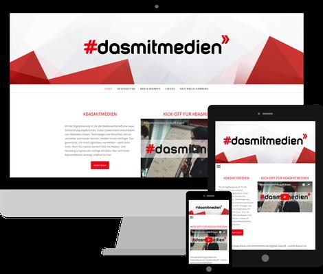 dasmitmedien.de - Layout Anpassungen, responsive Details, Fullwidth Content Bereiche, gekachelte Jimdo Blog Darstellung