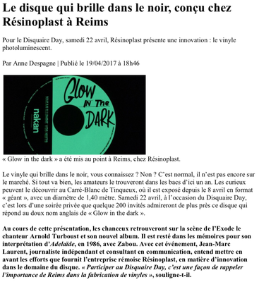 Article paru dans l'Union de Reims