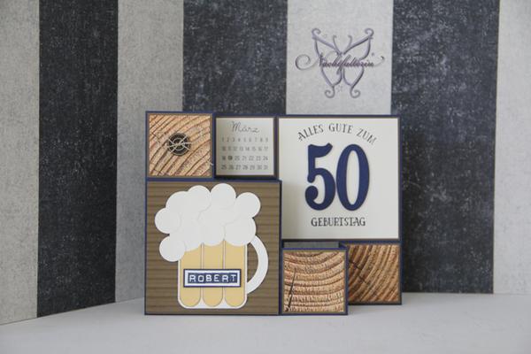 Karte 50 Geburtstag.Treppenkarte Zum 50 Geburtstag Nachtfalterin Karten