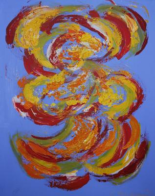 Der kleine Muck/Wuschel, 70 x 100, Acryl auf Leinwand