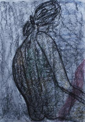 Aktmalerei eine Leidenschaft, 70x100, Mischtechnik auf Papier