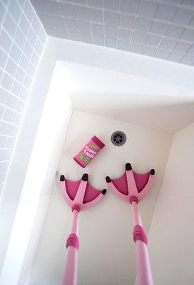 Papier Illustration Dusche Flamingo