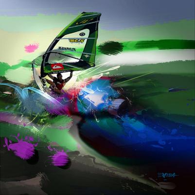 Serie Sport / Acrílico sobre lienzo / 40 x 40 cms / DISPONIBLE