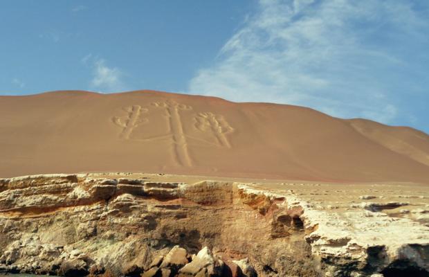 """Peru ist berühmt für seine Geoglyphen - hier der """"Candelabra"""""""