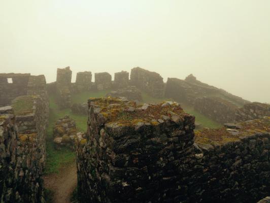 Vorbei geht es an zahlreichen Inka Ruinen