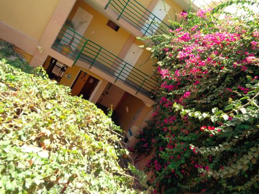 Blick in den schönen Innenhof meines Hostels