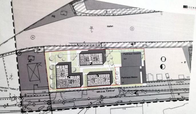 Bauprojekt OFSITE Lage im Hafen Bildquelle: © Immobilien Stadtwerke Offenbach