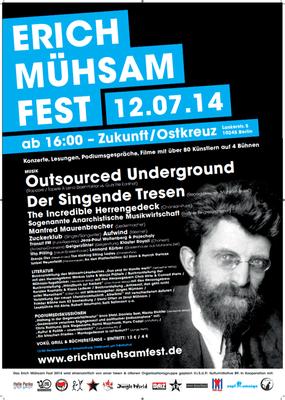 Plakat zum Erich-Mühsam-Fest 2014