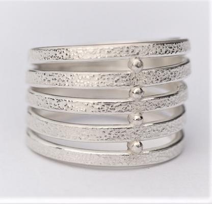 Fil 5 anneaux-texture piqué-4 clous