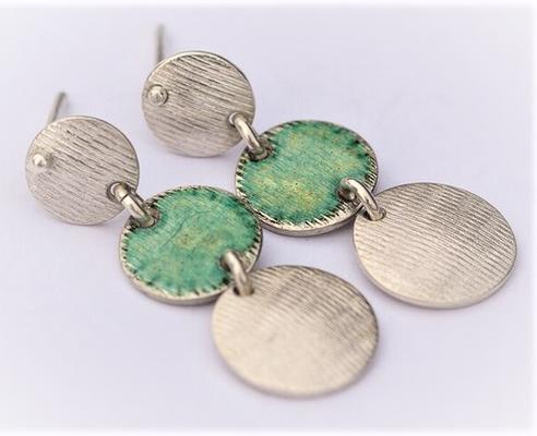 Texture lignes-émail opale vert