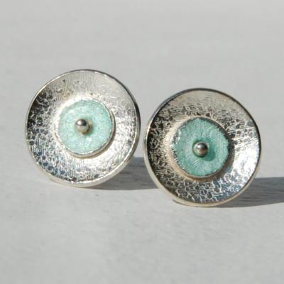 Texture piquée-émail turquoise clair