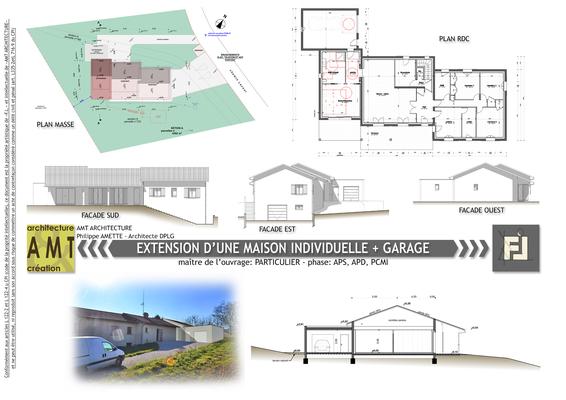extension d'une maison individuelle  + création d'un garage