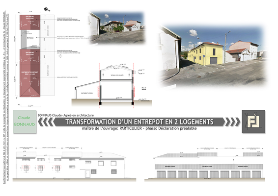 Restructuration d'un entrepôt en 2 logements