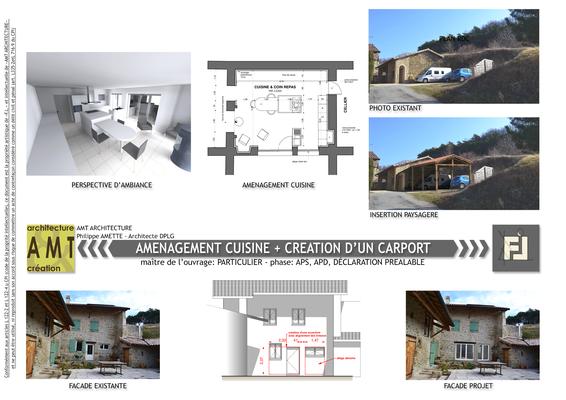 Modification d'une façade + création d'un carport