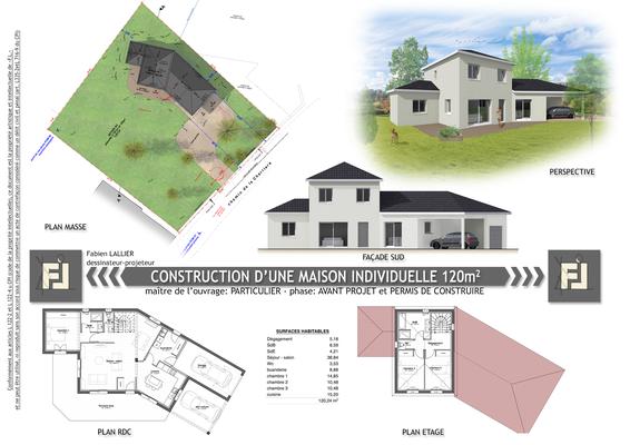 Construction d'une maison individuelle 150 mètres carrés