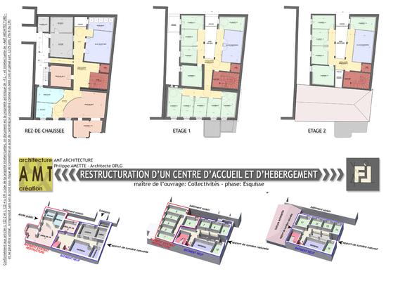 Restructuration d'un centre d'accueil de d'hébergement