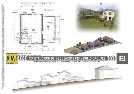 Construction de 5 villas pour bailleur social