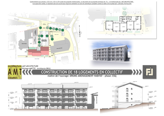 Constrcution de 18 logments collectif