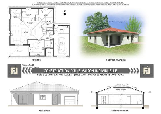 Construction d'une maison individuelle 105 mètres carrés
