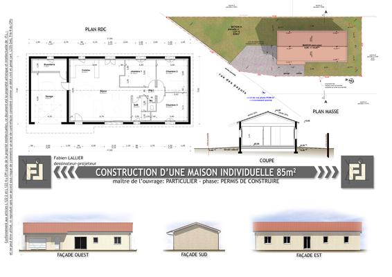 Construction d'une maison individuelle 85 mètres carrés