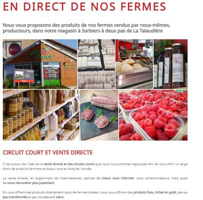 """Page """"Notre démarche"""" du site internet de Plein Champ"""