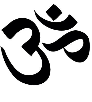 OM: symbole sanskrit en écriture devanagari