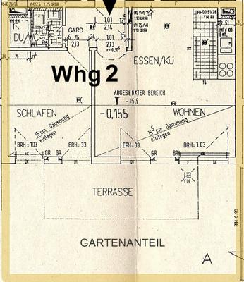 Grundriss Wohnung Nr. 2