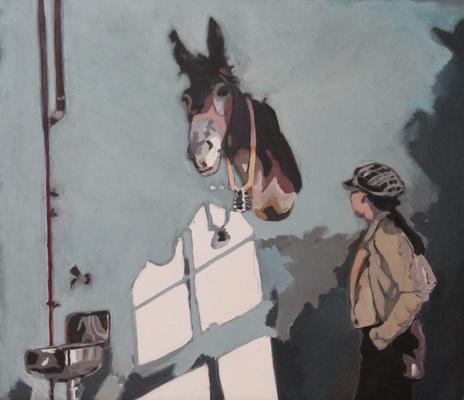 60x70 Josef`s Esel und Mary