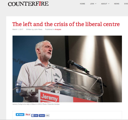 Counterfire: The left and the crisis of the liberal centre. 1.3.17
