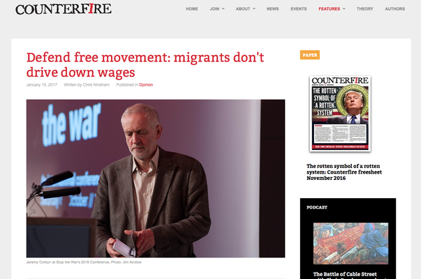 Counterfire: Defend free movement: 10.1.17