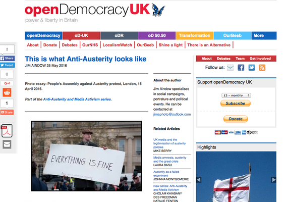open Democracy UK  : This is what Anti-Austerity looks like. 25.5.16